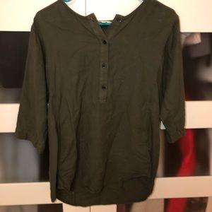 ARITZIA dark green shirt